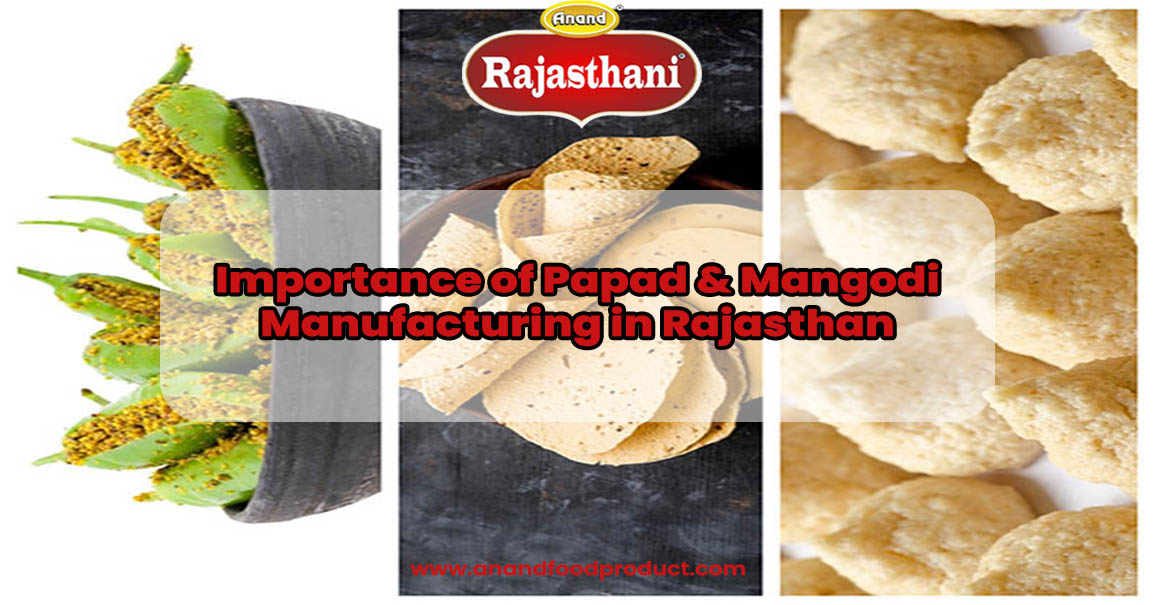 Importance of Papad & Mangodi Manufacturing in Rajasthan