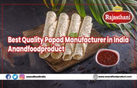Best Quality Papad Manufacturer in India - Anandfoodproduct